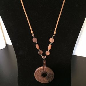 Wood and beads Necklace. Add this to your bundle!
